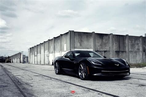 Corvette C7 Grand Sport Tieferlegung by Chevrolet Corvette C7 Mit 21 Zoll Vps 311 Vossen Wheels