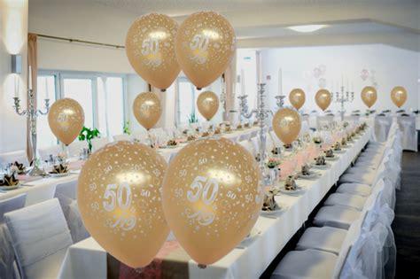 Luftballons Hochzeit Deko by Goldene Hochzeit Dekoration Hochzeitsdeko Zur