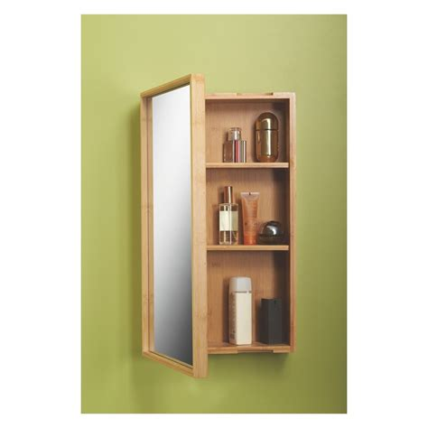 taio bamboo single mirrored bathroom cabinet badev 230 relse