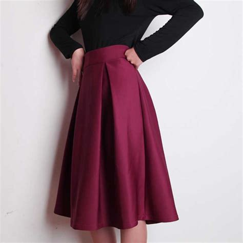 aliexpress buy plus size autumn winter flared skirt