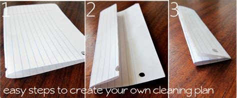 How Do You Fold Paper Into A - and easy steps to creating your cleaning schedule