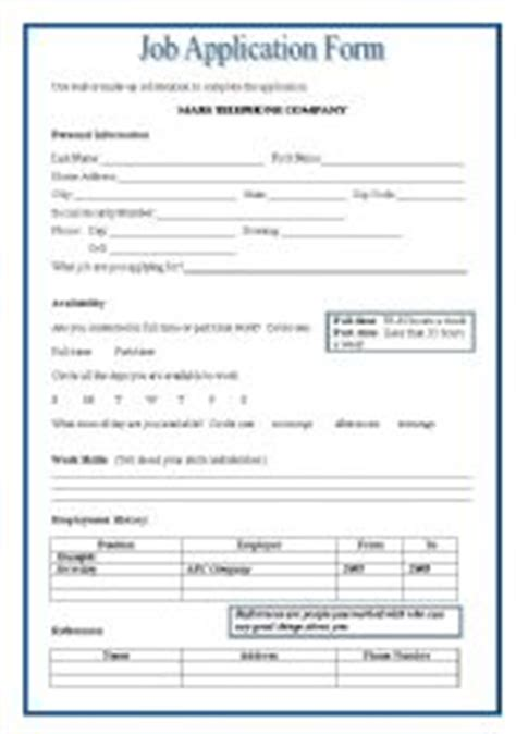 free printable job application worksheets english teaching worksheets applying for a job