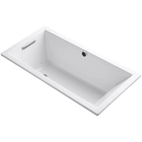 bathtubs 60 x 30 kohler underscore 60 quot x 30 quot air bathtub wayfair