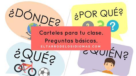 preguntas basicas en una clase de ingles carteles para tu clase preguntas b 225 sicas el tarro de