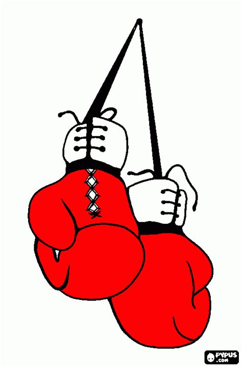 Boxing Gloves Coloring Page Printable Boxing Gloves Boxing Gloves Coloring Pages