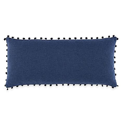 Oblong Nevy anthology happy indigo oblong throw pillow in navy bed bath beyond