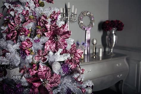 pink silver pink christmas tree pictures photos and
