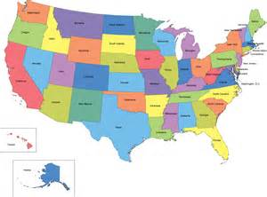 usa map with state names presentationmall