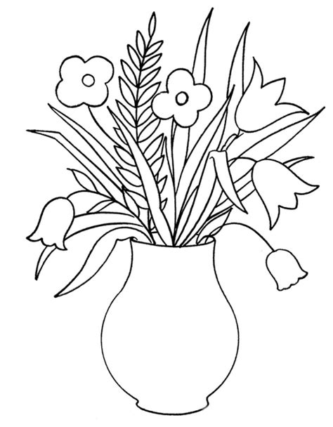 coloring pages of different types of flowers kids coloring pages flowers coloring pages cliparts co