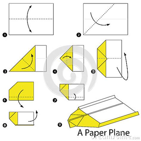 Steps To Make A Paper Plane - step by step how to make origami a plane