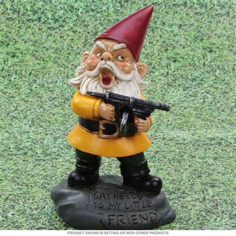 garden gnomes with guns angry little garden gnome lawn statue garden statues