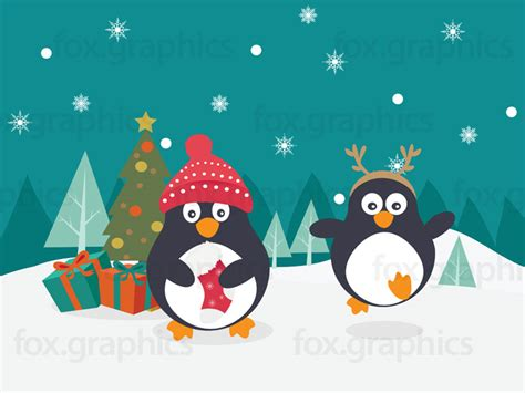 images of christmas penguins penguin christmas tree