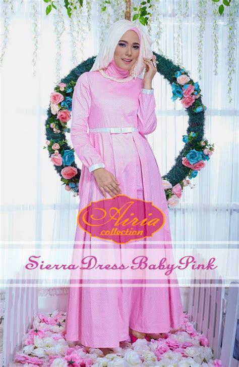 Baju Gaun Untuk Baby model baju pesta muslim gaun pesta muslim polka dress by airia baby pink pusat busana