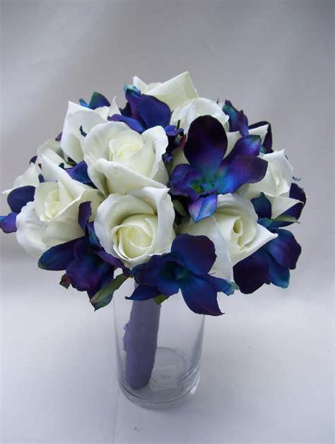 Wedding Bouquet Violet Roses by S Bridal Bouquet With Blue Violet Dendrobium