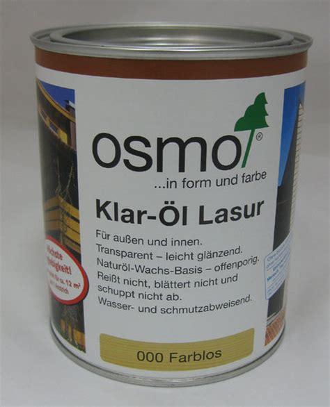 osmo holzlasur innen klar 214 l lasur osmo farblos leicht gl 228 nzend 750 ml