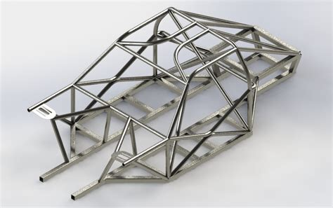 design space frame chassis space frame chassis 3d cad model grabcad