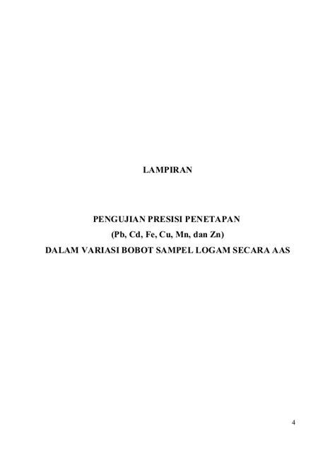 Lu Cb Variasi robutnes presisi dan akurasi hasil pengukuran analit