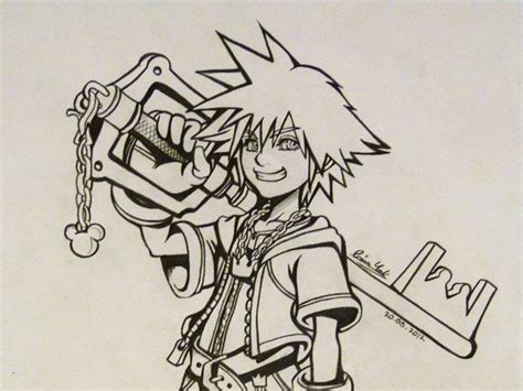 ideas for drawing sora from kingdom hearts possible sketches pinterest