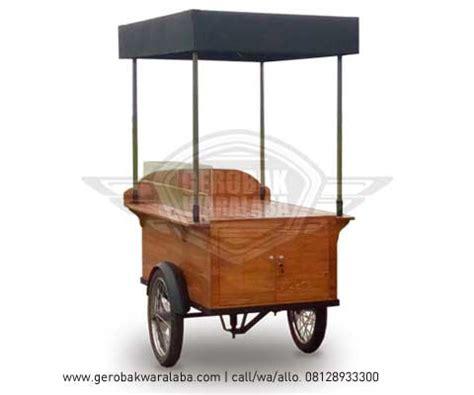 desain gerobak dorong kayu gerobak sepeda vintage gerobak sepeda custom bandung