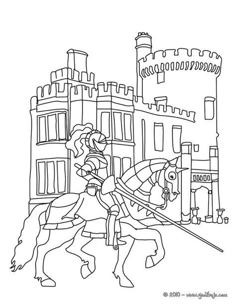 caballero infantil caballero fantasia dibujo projecte dibujos para colorear un caballero en armadura a caballo