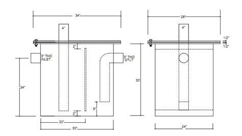 grease trap diagram grease interceptor diagram pictures