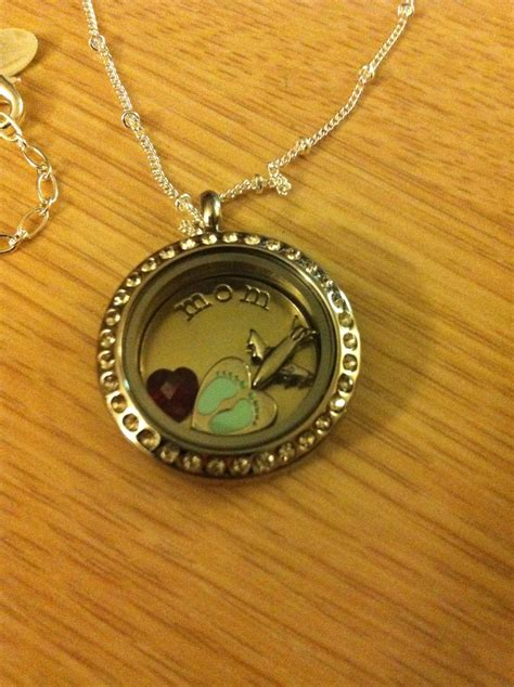 Origami Owl Baby Locket - the origami owl living locket i got for my 2nd im