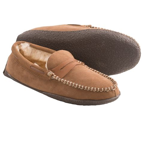 shearling slippers for clarks shearling moc slippers for in chestnut