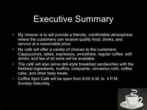 coffee house business plan coffee house business plan ppt house and home design