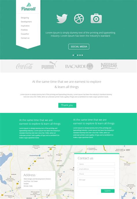 latest  web page templates psd css author