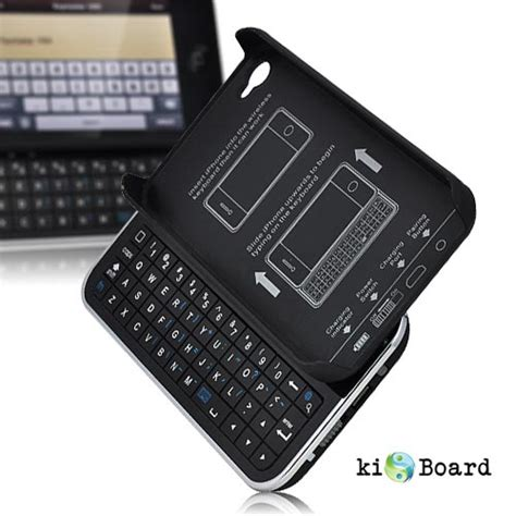 Kiboard Iphone 4 With Slide Out Bluetooth Keyboard