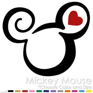 tribal mickey minnie mouse two color tattoo disney vinyl