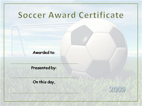 soccer certificate templates for word hondaarti org