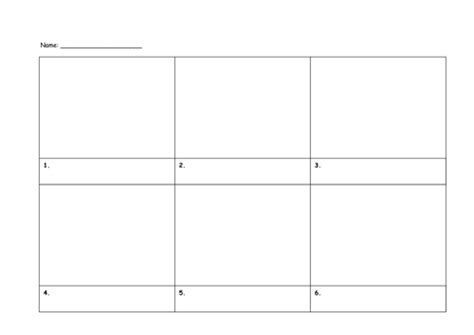 storyboard template 6 boxes easter story comic by petordream us