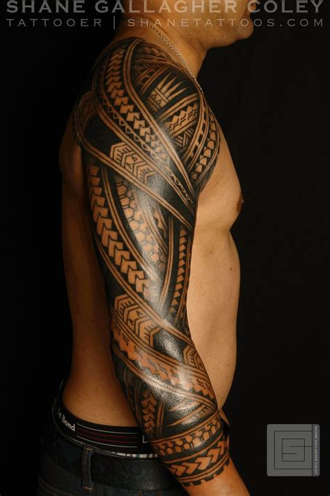 polynesian tattoo sleeve 25 great ideas about polynesian sleeve on