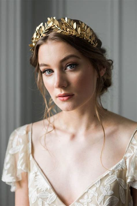 a gold sprayed flower crown wedding hairstyles photos 609 best crowns images on pinterest crowns crown royal