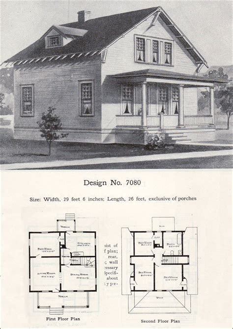 Home Plans With Photos Of Interior twp story bungalow cottage plan 1908 radford no 7080