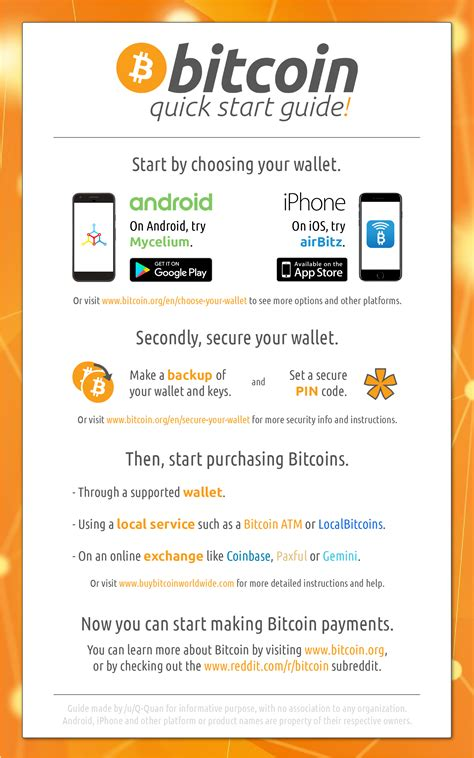 Bitcoin Quick | improved bitcoin quick start guide oc bitcoin