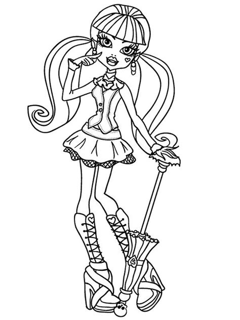 kids n fun com coloring page monster high clawd wolf kids n fun de ausmalbild monster high draculaura