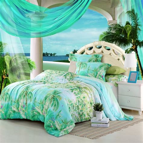 palm tree bedroom furniture fascinating turquoise bedding sets add a fresh touch to