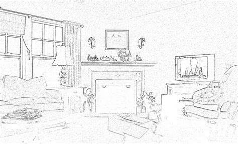 living room how to draw a living one point perspective both sides of the l post