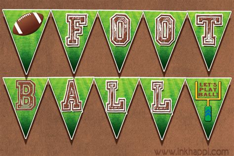 printable football banner football free printables for the food table and more