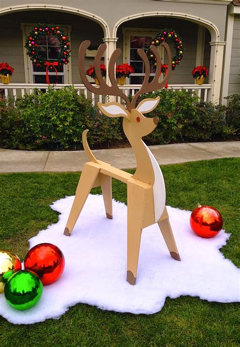 diy lawn decorations wood dave lowe design the sawhorse reindeer how to