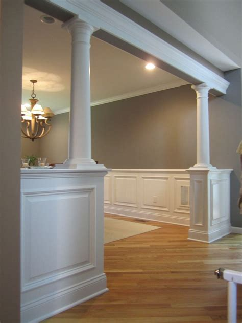 half wall with columns bolton ct home ideas - Half Wall With Columns