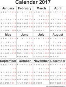 annual calendar template format annual calendar 2017 portrait 2017 calendar template