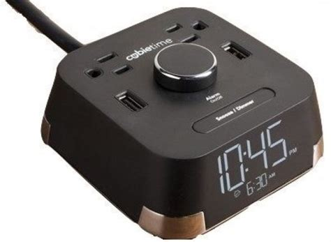 alarm clock charger cubietime alarm clock charger w 2 usb ports and 2 outlets