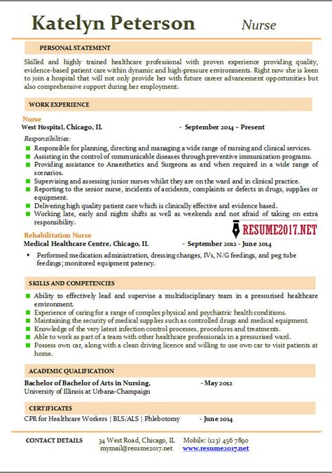 resume templates for nurses resume 2017 exles