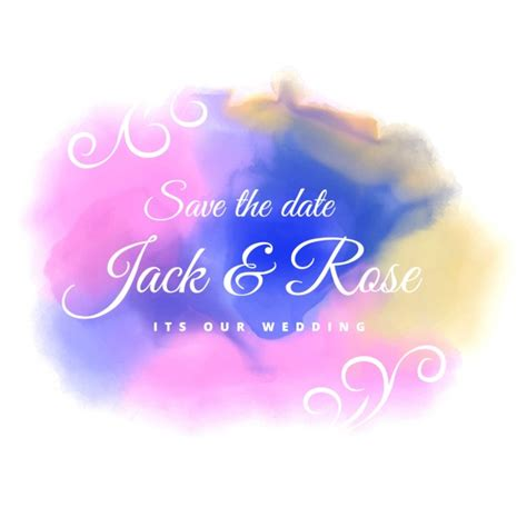 Wedding Background Color by Water Color Stain Wedding Background Vector Free