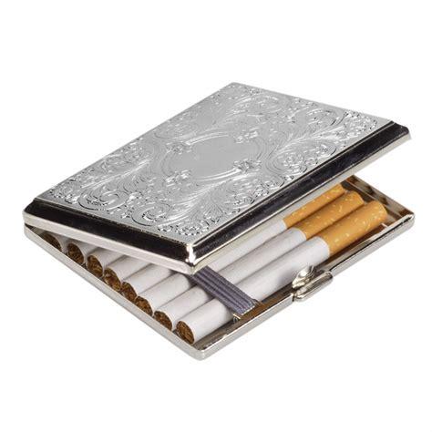 chrome case chrome circle design cigarette case tartan trader