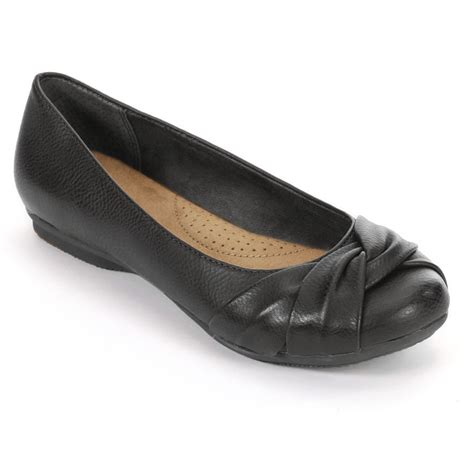 black ballet flats shoes sonoma farrah womens shoes black closed toe memory