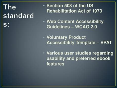 rehabilitation act of 1973 section 508 evaluating academic ebook platforms from a user perspective